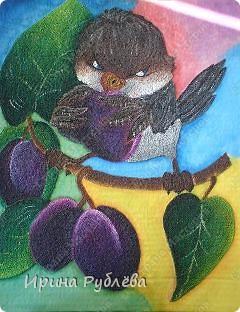 Это орхидеи из пшена, а трава нарисована. Всё рисуется и раскрашивается гуашью. фото 40
