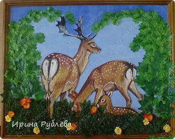 Это орхидеи из пшена, а трава нарисована. Всё рисуется и раскрашивается гуашью. фото 49