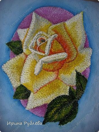 Это орхидеи из пшена, а трава нарисована. Всё рисуется и раскрашивается гуашью. фото 32