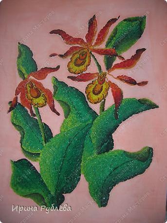 Это орхидеи из пшена, а трава нарисована. Всё рисуется и раскрашивается гуашью. фото 36