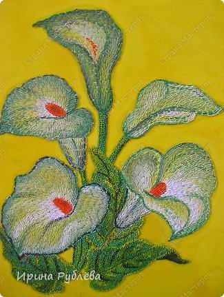 Это орхидеи из пшена, а трава нарисована. Всё рисуется и раскрашивается гуашью. фото 34