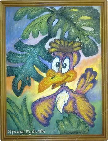 Это орхидеи из пшена, а трава нарисована. Всё рисуется и раскрашивается гуашью. фото 46