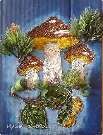 Это орхидеи из пшена, а трава нарисована. Всё рисуется и раскрашивается гуашью. фото 28
