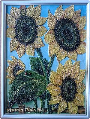 Это орхидеи из пшена, а трава нарисована. Всё рисуется и раскрашивается гуашью. фото 38