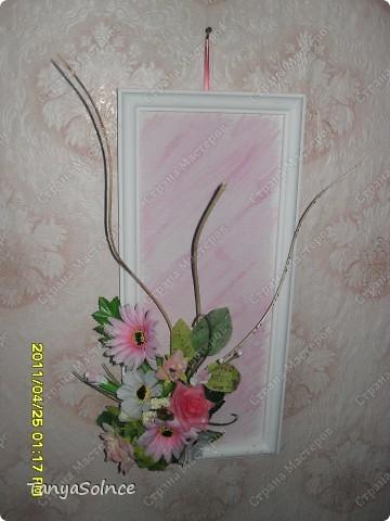 Композиция из искусственных цветов - маме! фото 1