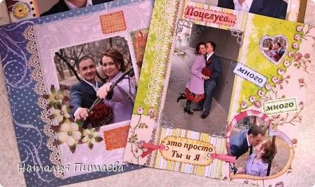 Выкладываю, по наставлению Анюты (Анчи), свои готовые странички будущего свадебного альбома. Формат страниц 30х30см. Первые две тут http://stranamasterov.ru/node/164543  фото 1