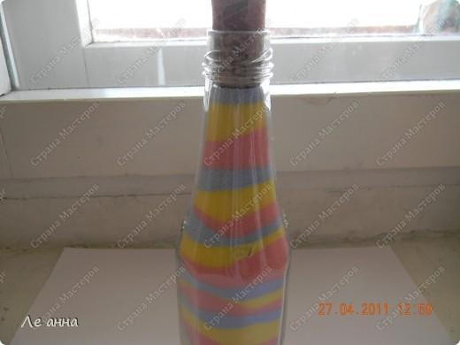 Бутылочки делала с дочкой. Крышки из солёного теста. фото 6