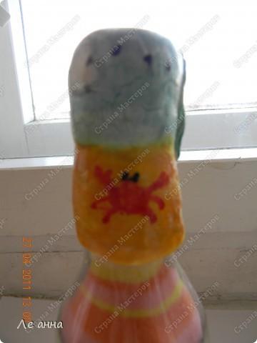Бутылочки делала с дочкой. Крышки из солёного теста. фото 3