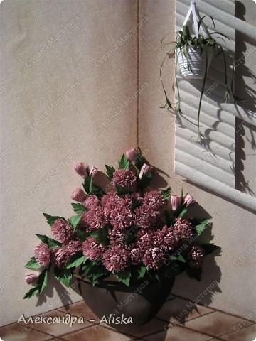 Это мой клевер с курсов, правда почему эти цветы  так назвали не знаю, они больше похожи на хризантемки. Как бы цветы не назвали, мне картина понравилась, смотрится интересно. К сожалению работа пока без рамы,ну ничего что-нибудь подберу позже.  фото 4