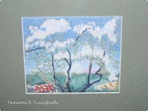 """Вышитая миниатюра """"Весна"""" фото 2"""