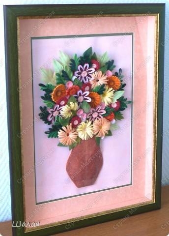 """""""Цветы в кувшине"""". Здесь оригинал http://stranamasterov.ru/node/145061. А это моя очередная работа с курсов Ольги К.  Спасибо ей огромное за уроки.  фото 1"""