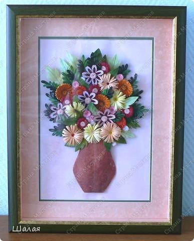 """""""Цветы в кувшине"""". Здесь оригинал http://stranamasterov.ru/node/145061. А это моя очередная работа с курсов Ольги К.  Спасибо ей огромное за уроки.  фото 4"""
