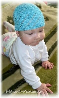 Вязаная летняя шапочка крючком для мальчика