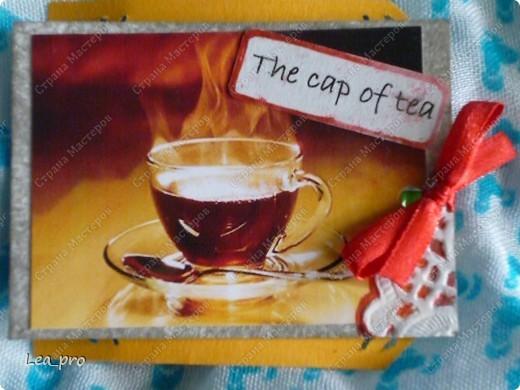 Глядя на старания мастериц Страны я решила сделать подарочную серию АТС. Дорогие мои! Приглашаю на чашечку чая! Дорогие мастерицы! Серия сделана под заказ.  Запланирована еще одна, там жду всех желающих :))   фото 7