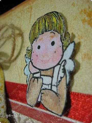 """Открытка """"Тильда с колокольчиком""""  Мне показалось, что эта тильда - школьный ангел. Даже платье у неё похоже на школьную форму с белым фартуком. Пусть она провожает учеников  и ограждает на первых порах от неудач во взрослой жизни фото 11"""