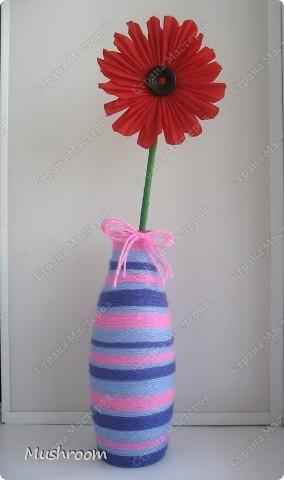 бумажный цветочек в шерстяной вазе ) фото 1