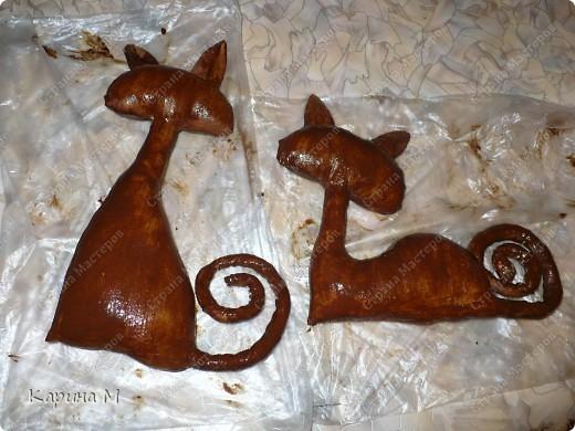 Своих кошачьих я делала по мастер классу Эли  Василенко. Увидев этих кошечек влюбилась в них сразу))) http://stranamasterov.ru/node/152445?c=favorite Заготовки сделала давно, и они лежали (есть еще 2 кошки джинсовые). Завтра мое день варенья и я решила сделать себе подарок))))) фото 4