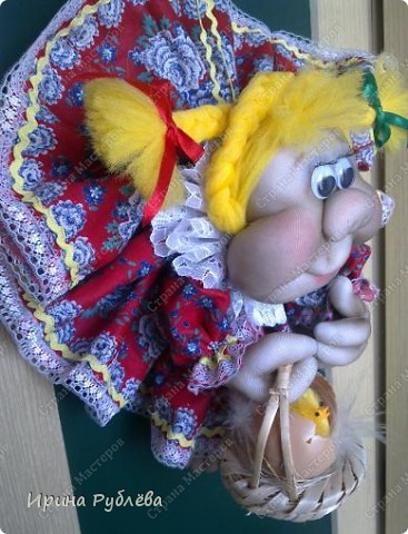 Это Нюрка. Текстильно-скульптурная техника.  фото 11