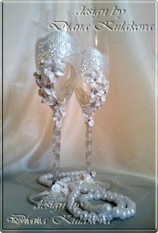 Свадебный набор: бокалы, свечи... фото 6