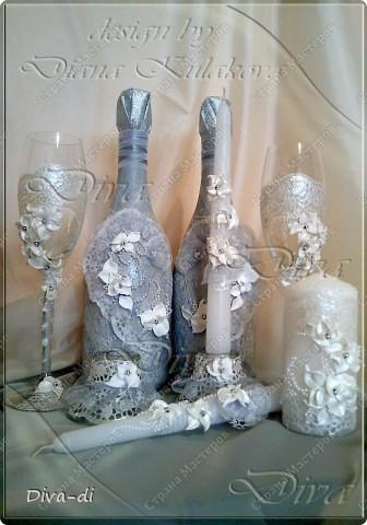 Свадебный набор: бокалы, свечи... фото 1