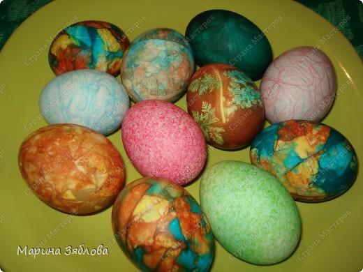 В этом году я решила покрасить яйца не традиционным способом.Потратила много времени , но результат того стоит.Спасибо мастерицам за идеи ))))) фото 2