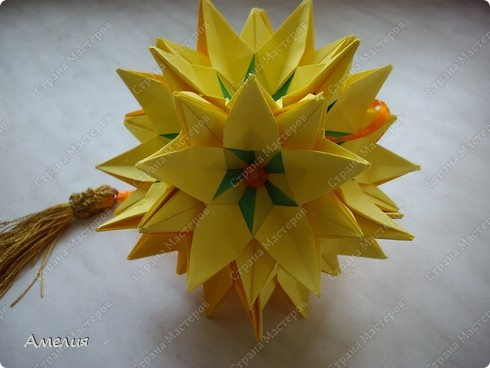 Кусудама Sunflower фото 1