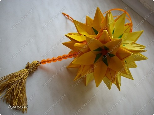 Кусудама Sunflower фото 2