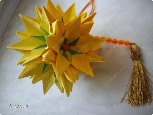 Кусудама Sunflower фото 3