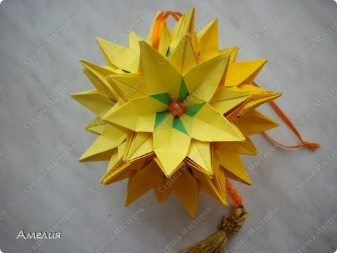 Кусудама Sunflower фото 4