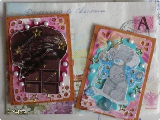 Сегодня у меня кофейно-шоколадные подарки :))) Мишутка, думаю, тоже большой поклонник шоколада :) Это от Филюши. Светочка, спасибо большое! Очень-очень приятно! :)))))) фото 1
