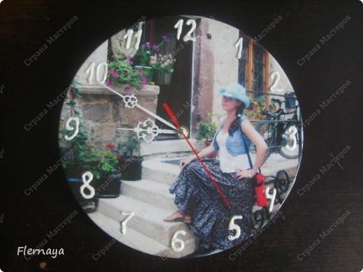 Часы. Основа - виниловая пластинка  фото 1