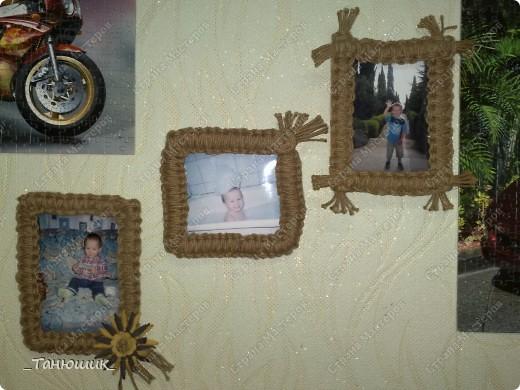 Рамочки для фотографий из макраме фото 1
