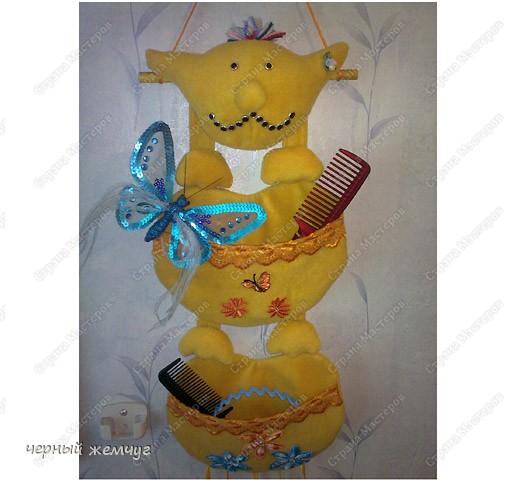 Вот такая получилась у меня смешная игрушка, для моей любимой  дочери. Для ее заколочек, расчесок и ободков. фото 4