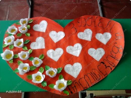 У нас в школе проходил конкурс на лучшую валентинку и мы с моими шестиклассниками сделали вот такую открыточку. фото 1
