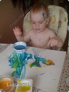 """Когда доча заболела, стала плаксивой, вялой. Тогда я ей предложила порисовать """"Волшебными красками"""", она не отказалась. Вот что у нас получилось... фото 5"""