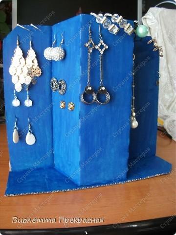 Сделала подставку-вешалку для маминых серёжек. фото 1
