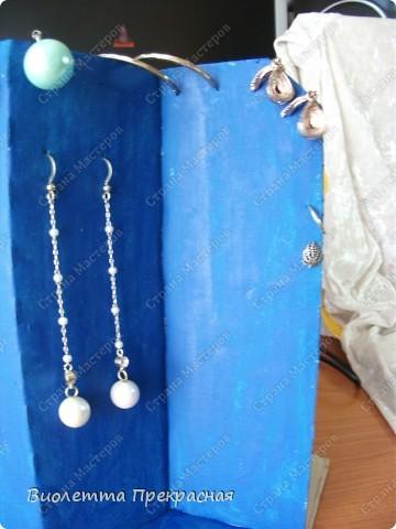 Сделала подставку-вешалку для маминых серёжек. фото 2