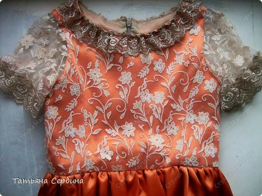 Первое платье, которое я сшила старшей доченьке на выпускной в садик. Модель придумала сама: фото 12