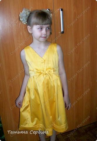 Первое платье, которое я сшила старшей доченьке на выпускной в садик. Модель придумала сама: фото 9