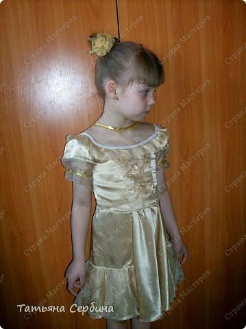 Первое платье, которое я сшила старшей доченьке на выпускной в садик. Модель придумала сама: фото 8