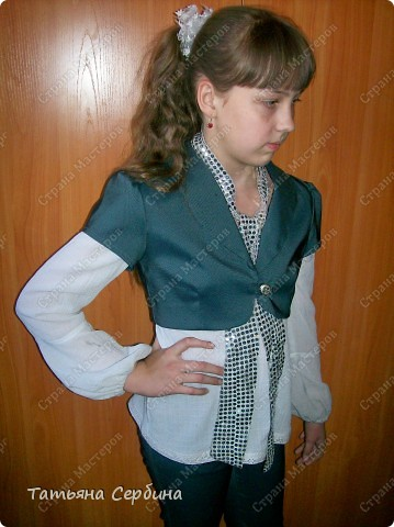 Первое платье, которое я сшила старшей доченьке на выпускной в садик. Модель придумала сама: фото 16