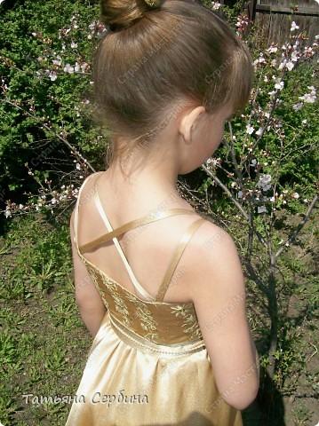 Первое платье, которое я сшила старшей доченьке на выпускной в садик. Модель придумала сама: фото 3