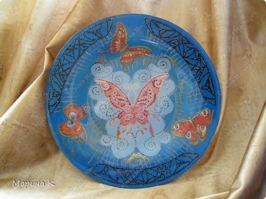 Салфетка, контуры, акриловая краска (золото, зелень, серебро) Обратный декупаж фото 4