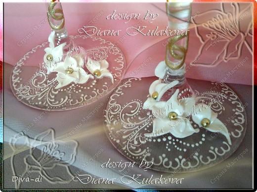 Свадебные бокалы + набор фото 4