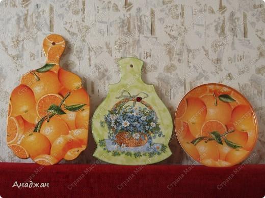 "Набор ""Оранж"", досочка ""Весенняя корзинка, Витраж ""Бабочки летают"" фото 1"