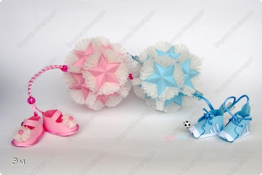 Оригами Кусудама Бабочки +