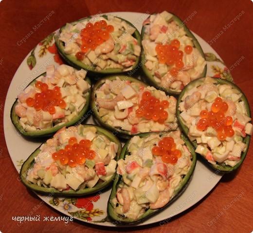 Салат из авокадо и морепродуктов.  Ну очень вкусный!!! фото 8