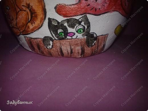 Шкатулка из солёного теста. Коты))  фото 18