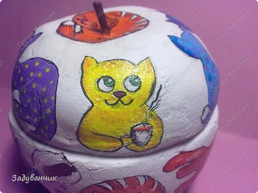 Шкатулка из солёного теста. Коты))  фото 15
