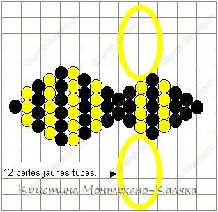 Пчела Шмель Материалы для тельца и крыльев: * круглый бисер 11 или трехгранная рубка 9 черного цвета (1 нить)...